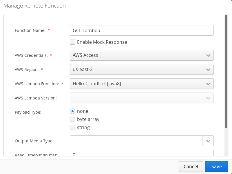 Create GCL function