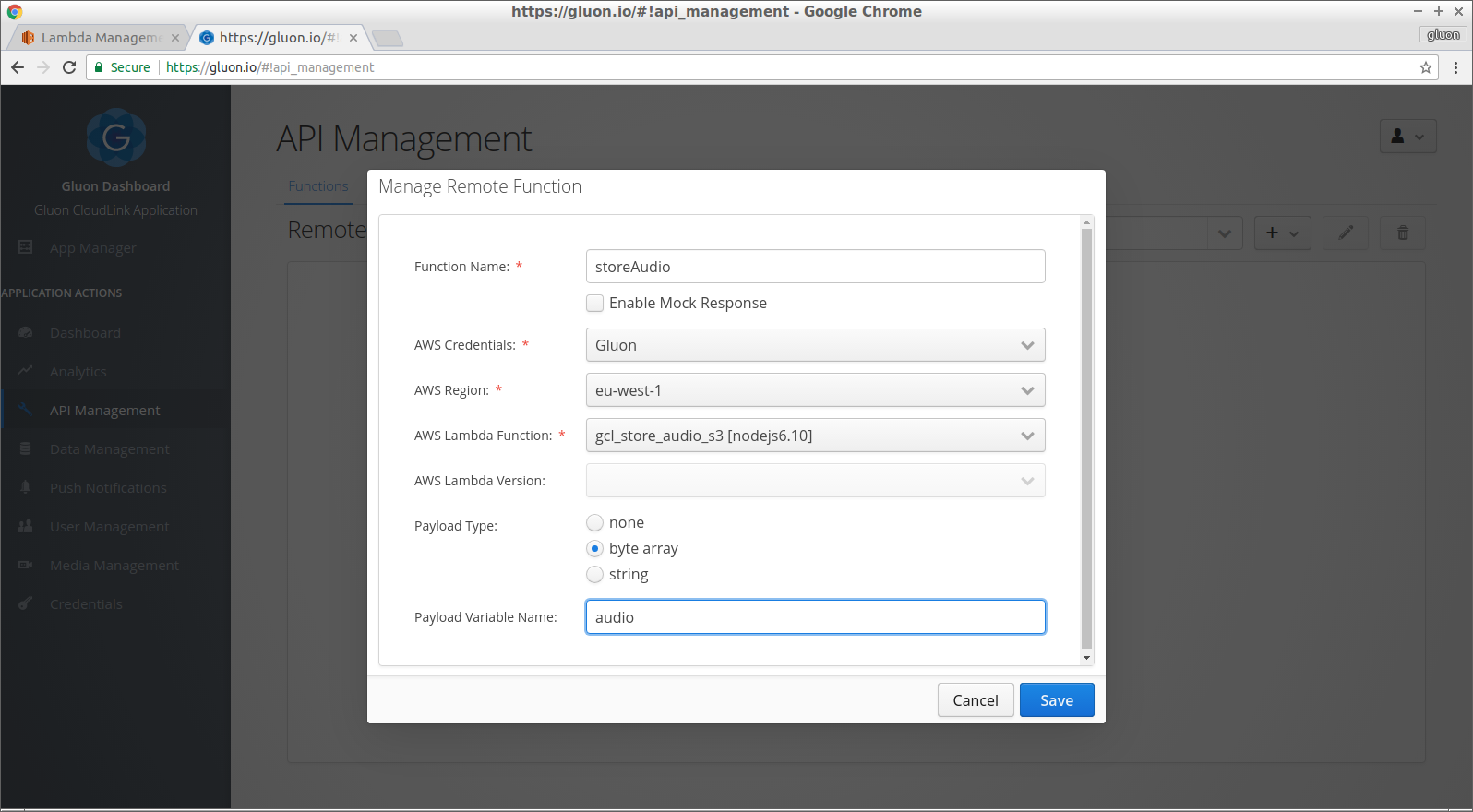 CloudLink Remote Functions with AWS Lambda